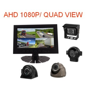 4ch Ahd 720p Mobile Dvr Dual 256g Sd Card Supported 3g 4g Gps Wifi,7 Inch 4 Split Screen