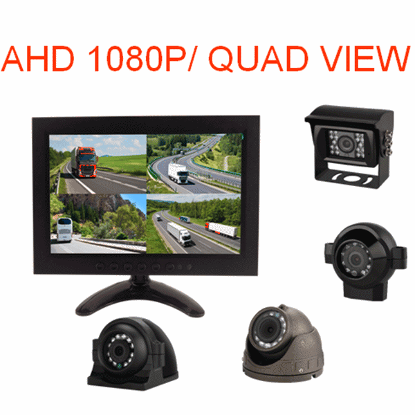 10.1 Inch Quad Rear view Display  AHD Split Monitor for Heavy Truck Featured Image